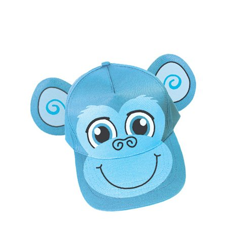 Adults Kids Adjustable Blue Monkey Animal Zoo Baseball Cap Hat Costume Accessory - Monkey Baseball