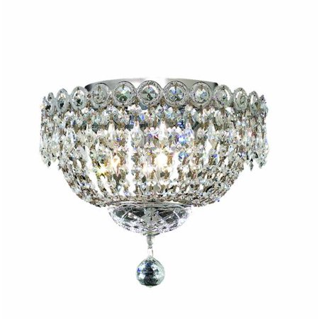 Century 4 light Chrome Flush Mount Clear Elegant Cut Crystal