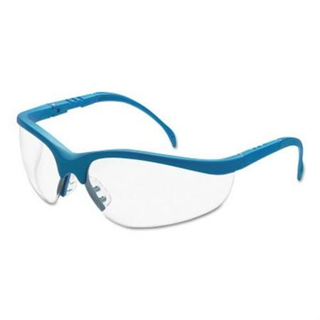 Crews Klondike Protective Eyewear - Klondike Protective Eyewear, Clear Lens, Duramass Hard Coat, Blue Frame