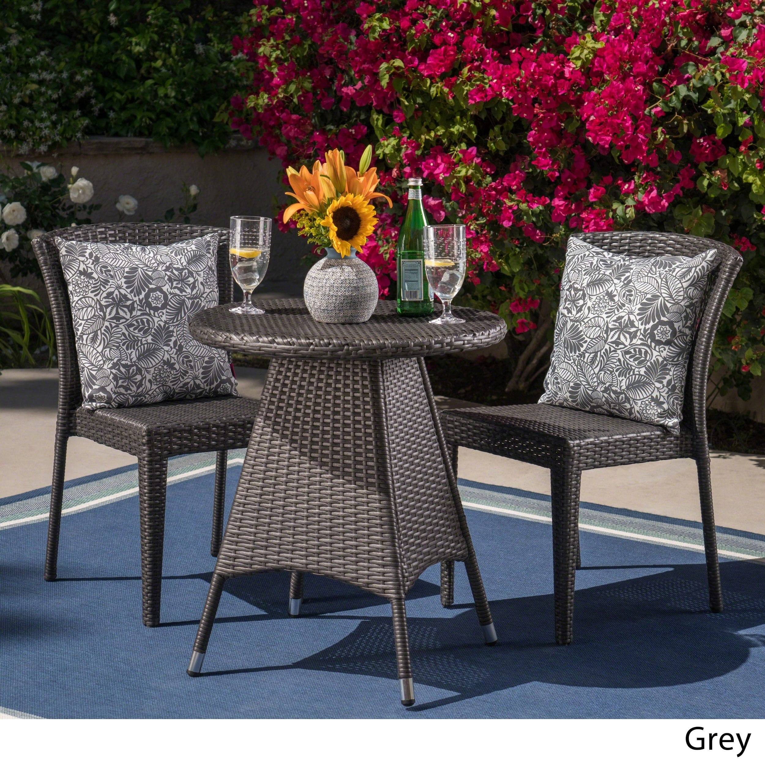 Christopher Knight Home Neal Outdoor 3-piece Wicker Bistro Set by