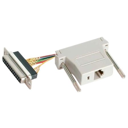 - StarTech DB25 to RJ45 Modular Adapter - F/F