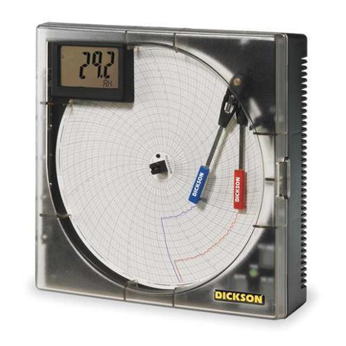 9 Temperature and Humidity Circular Chart Recorder, Dickson, TH8P2