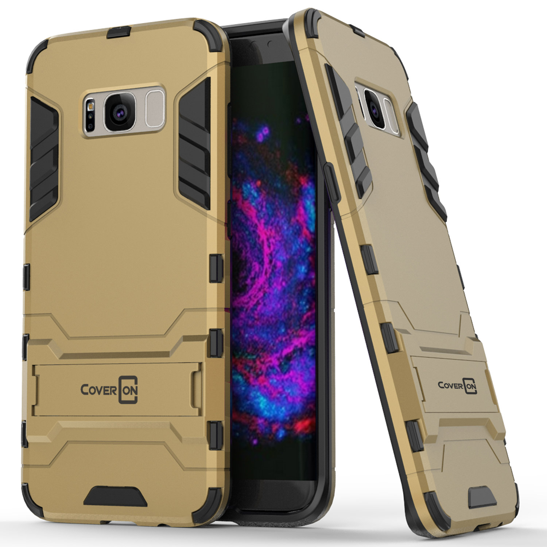 CoverON Samsung Galaxy S8 Case, Shadow Armor Series Hybrid Kickstand Phone Cover