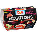 (4 Pack) Dole Fruit Bowls, Mixations Apple Strawberry, 4 Ounce (4 Cups)