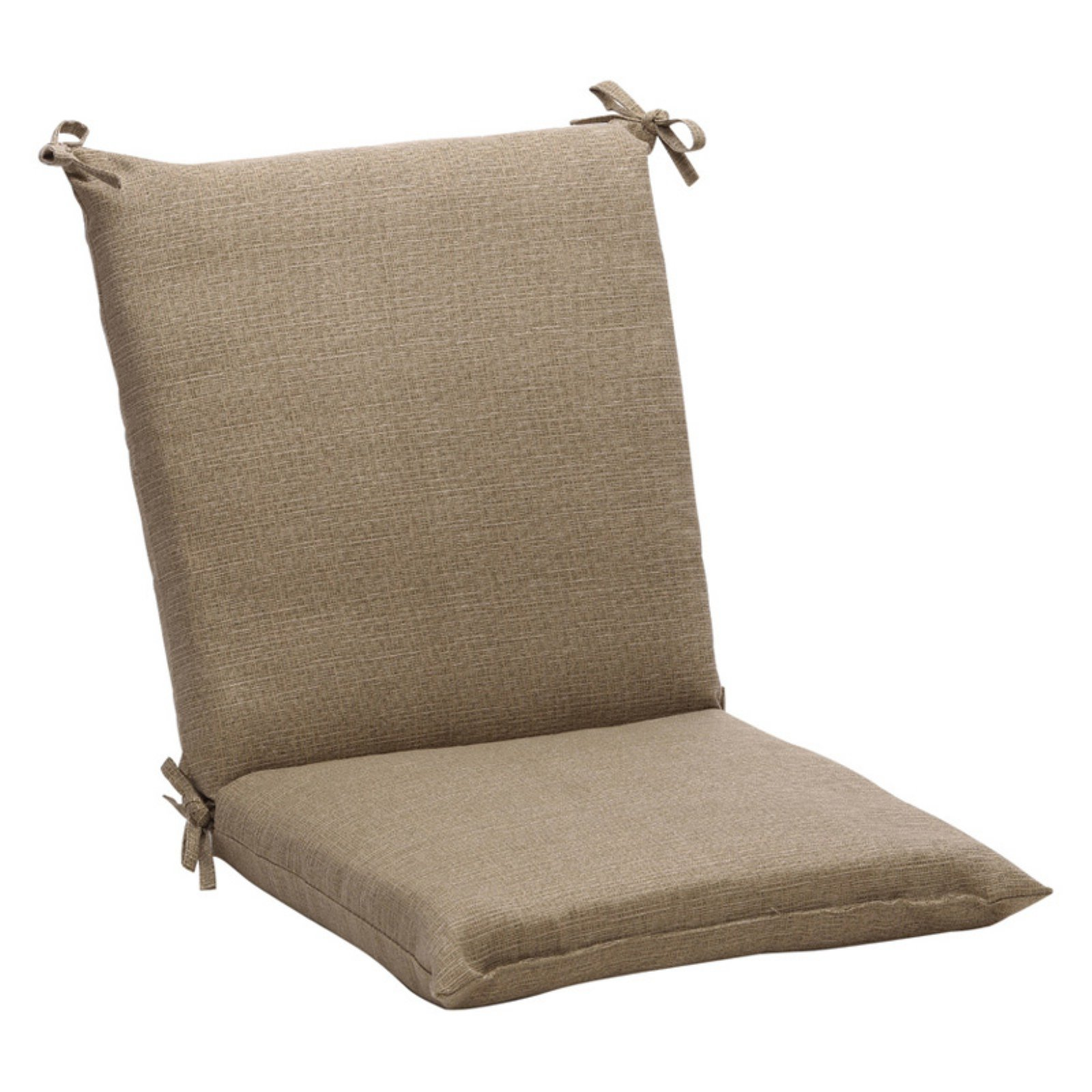 Pillow Perfect Outdoor Textured Solid Chair Cushion - 36.5 x 18 x 3 in.
