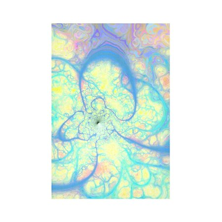 CADecor Blue Angel, Abstract Cosmic Azure Lemon Wall Tapestry Wall Hanging Wall Art Home Decor 60x90 inches