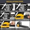 "20"" Bar 62CC Powerful Gas Chainsaw 2 Stroke Handed Petrol Chain Saw Woodcutting Saw with Tool Kit"
