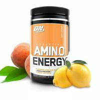 Optimum Nutrition Amino Energy Pre Workout + Essential Amino Acids Powder, Peach Lemonade, 30 Servings
