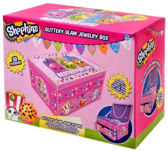 shopkins jewelry box collection shopkins mosaic jewelry box 9288