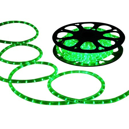 DELight 150 FT Green 2 Wire LED Rope Light Indoor Outdoor Home Holiday Valentines Party Restaurant Cafe Decoration - Outdoor Valentine Decorations