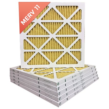 24x24x1 Merv 11 Pleated Ac Furnace Air Filter 6 Pack