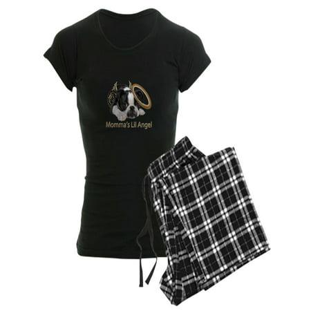 CafePress - Mommas Lil Angel Boston Terrier Pajamas - Women's Dark Pajamas