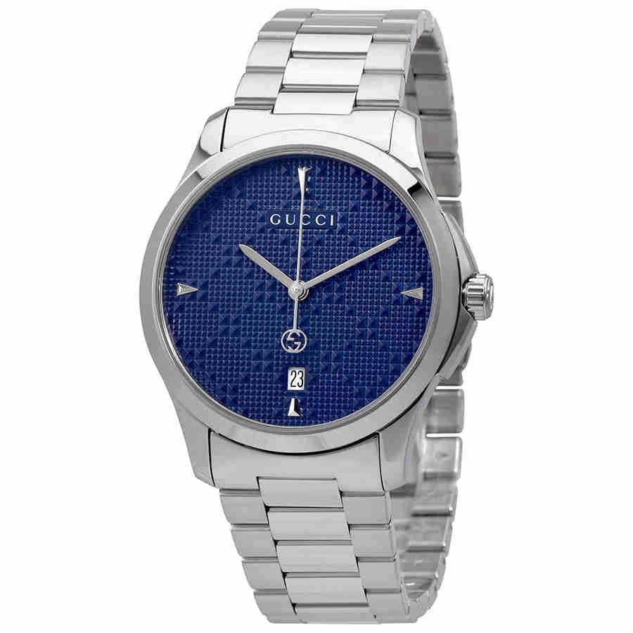 Gucci G-Timeless Diamante Blue Dial Ladies Watch YA1264025