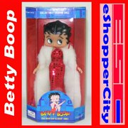 "Betty Boop 10"" Mini Doll Glamor Night Dress w/ Doll Stand, New Gift Cartoon TV By Precious Kids 31004"