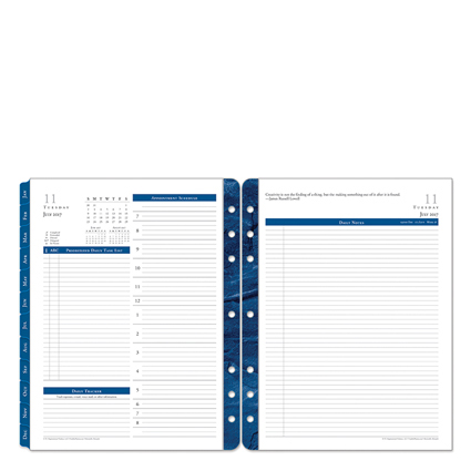 Franklin Monarch Monticello Daily Ring-bound Planner - Ju...