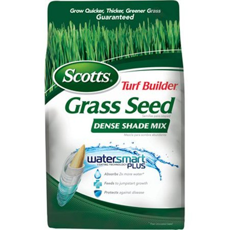 Scotts 18348 Turf Builder Dense Shade Grass Seed Mix Bag, 3-Pound (Not for sale in