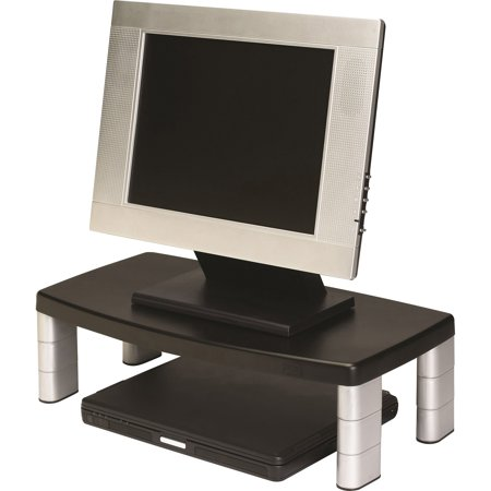3M, MMMMS90B, Adjustable Monitor Riser Stand, 1 Each, Black (3m Monitor Stand)