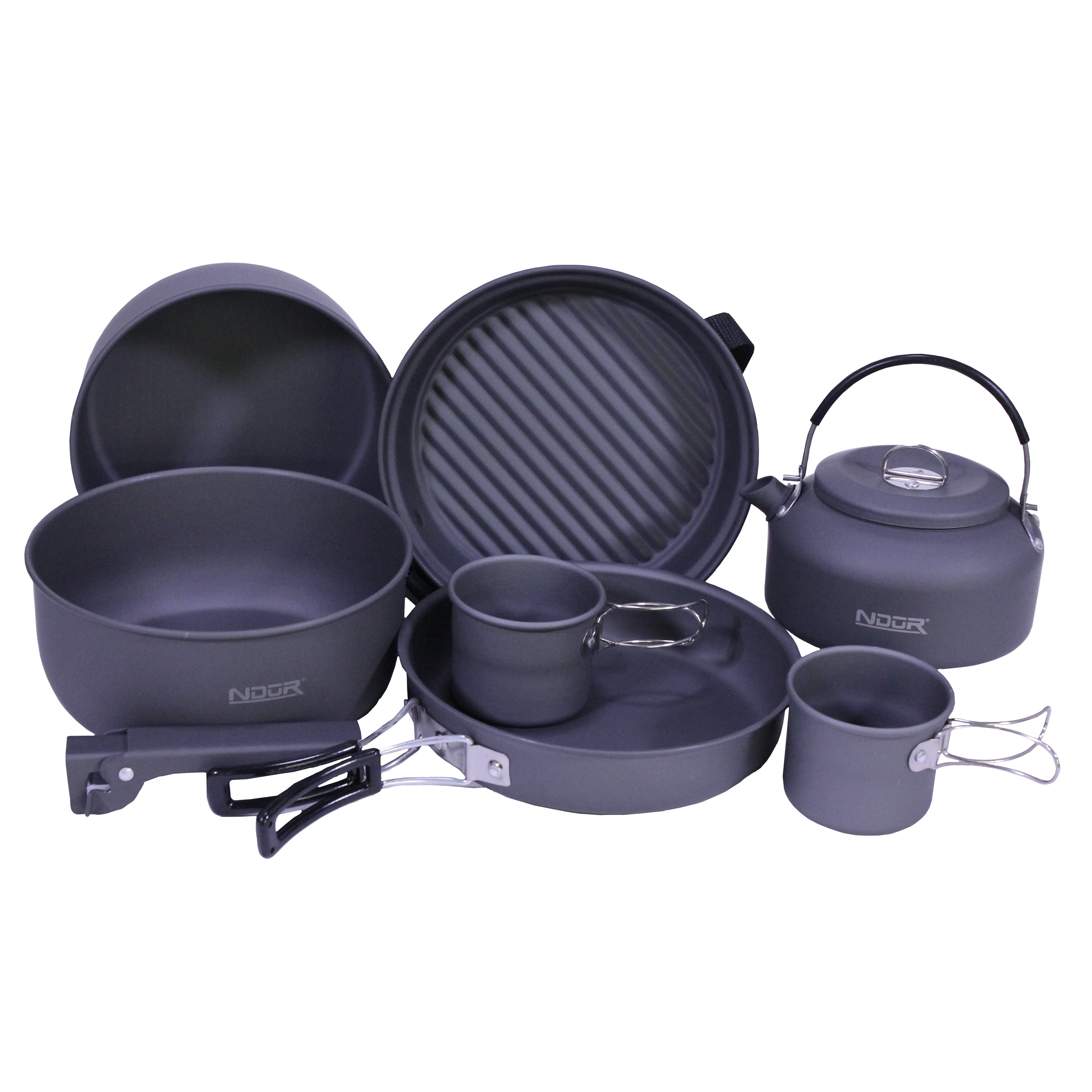 Proforce Equipment Cookware 9 Piece Mess Kit with Kettle by Proforce Equipment