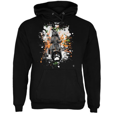 Drummer Sweatshirt (Bear Drummer Splatter Black Adult)