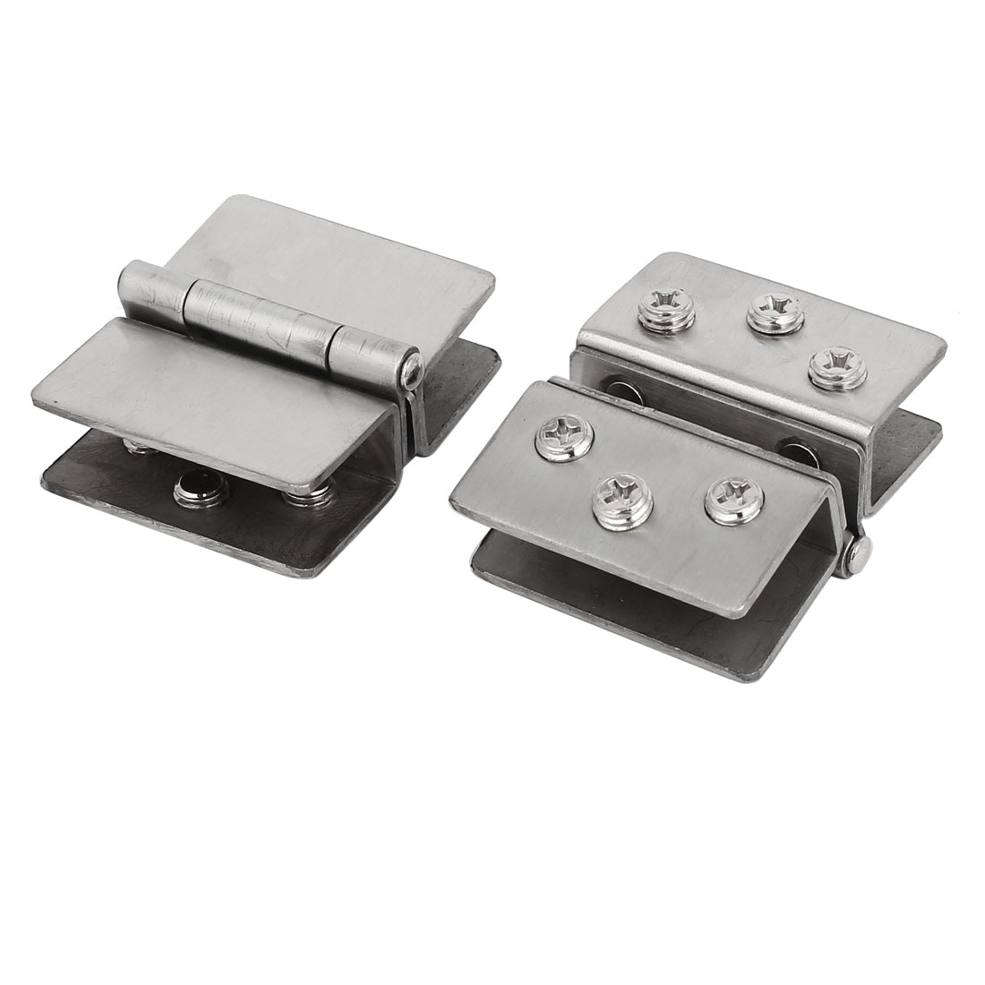 8-10mm Thickness Adjustable Glass Door Double Clip Clamp Hinges 2PCS - image 4 of 4