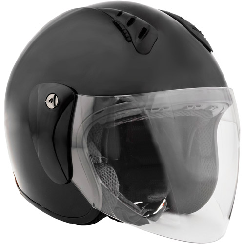Open-Face Helmet With Shield