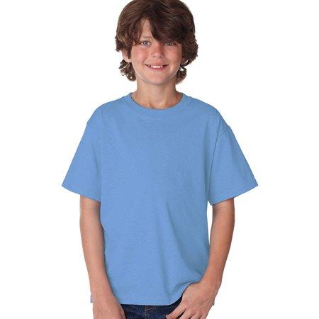 Plain Shirts Light (CYGNUS Plain Light Blue Short Sleeve Cotton T-shirt Crewneck T-shirt for)