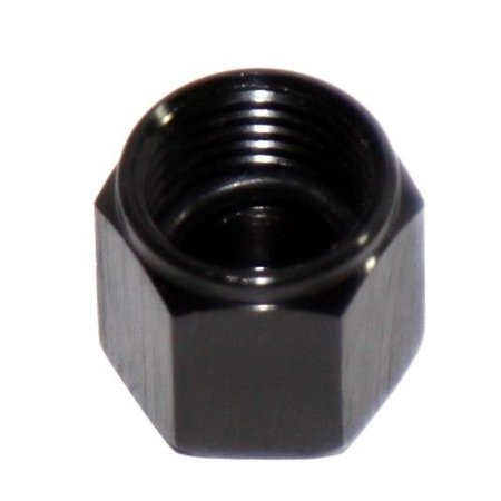 BLACK 6AN AN-6 Flare Cap Block Off Aluminum Anodized Fitting