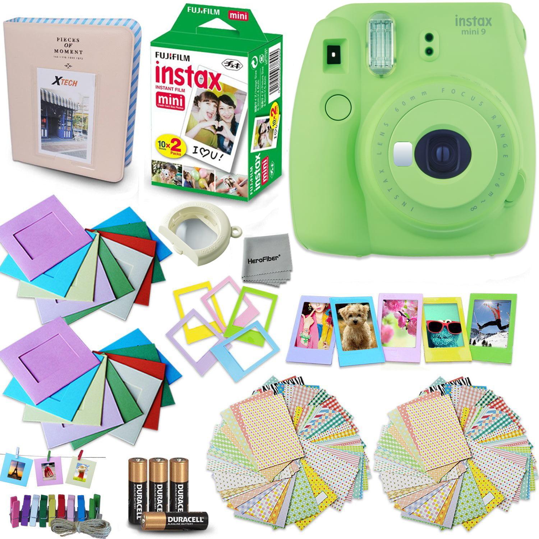 FujiFilm Instax Mini 9 Instant Camera (Lime Green) + Accessory Kit, Includes: INSTAX Mini Instant Film (20... by Fujifilm