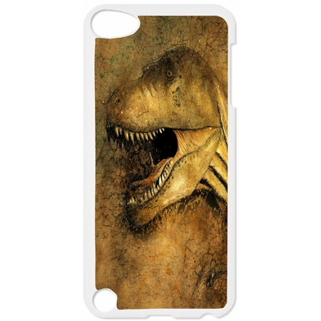 Dinosaur Hard White Plastic Case Compatible with the Apple iPod Touch 5th Generation - iTouch 5 Universal (Ipod Universal Connection Kit)