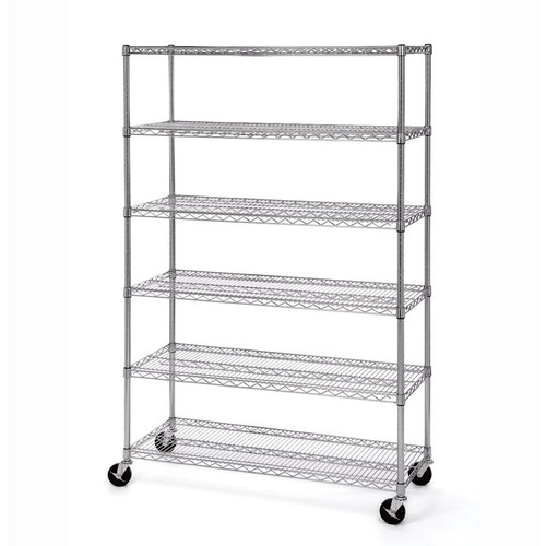 "Seville Classics NSF Listed Work Table Steel Wire Shelf 18/"" D x 48/"" W x 1/"" H"