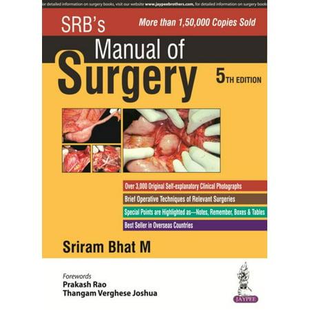 Srb manual of surgery flipkart offers