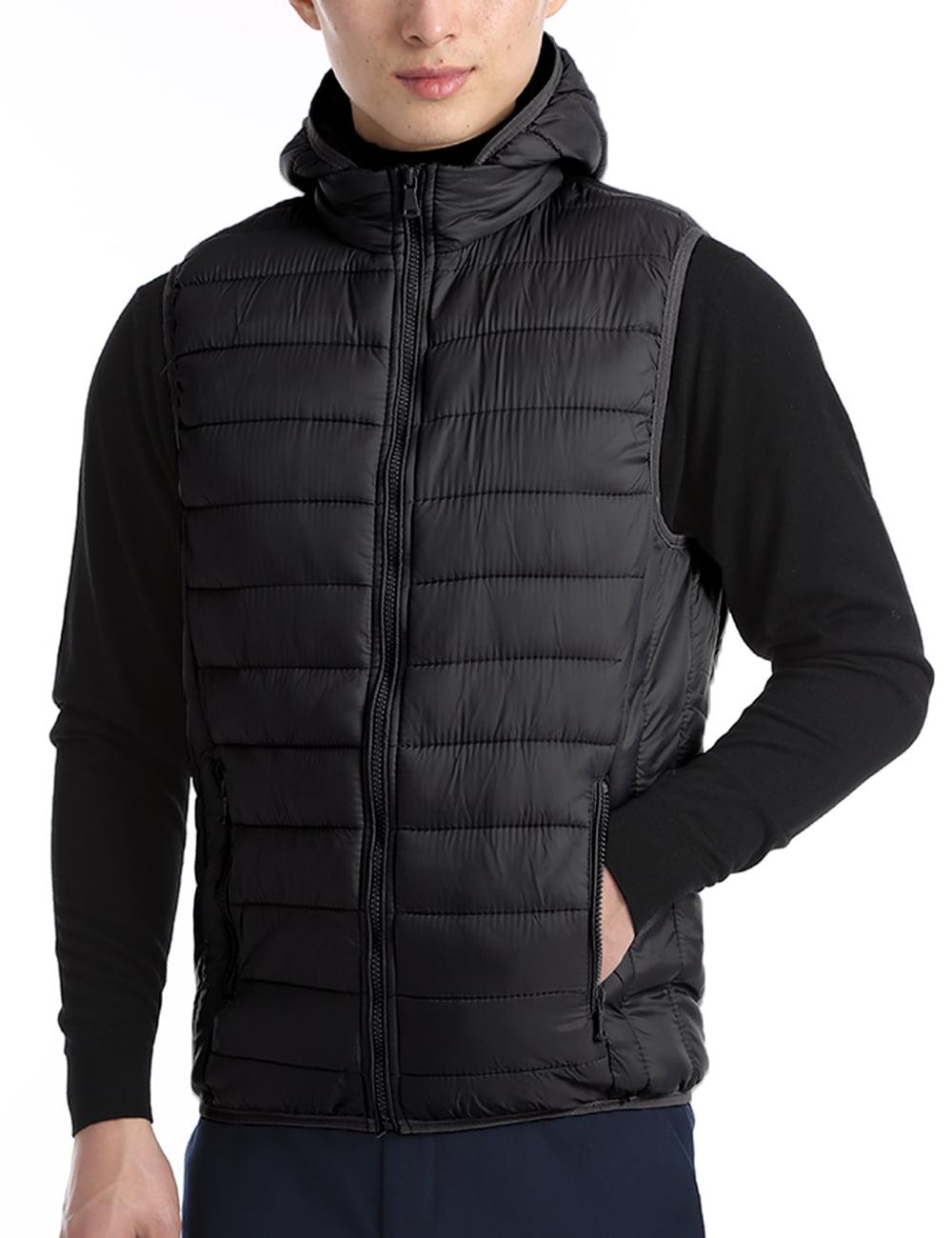 ONTBYB Mens Packable Stand Collar Puffer Down Lightweight Jacket Vest