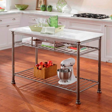 Home Styles Orleans Kitchen Island With Marble Top Walmartcom - The orleans kitchen island with marble top
