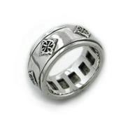 North Star - Sterling Silver Celtic Knot Symbol Meditation Spin Ring