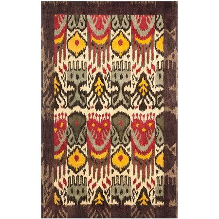 Safavieh Ikat Anderson Hand Tufted Wool Area Rug, Cream and Brown