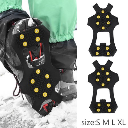 Snow Spikes,Zerone Outdoor Snow Antiskid Spikes Grips Mountain Climbing Footwear Ice Traction Cleats