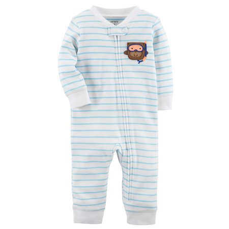 ba0b1666f369 Baby Boy Carter s Monkey Striped One-Piece Footless Pajamas ...