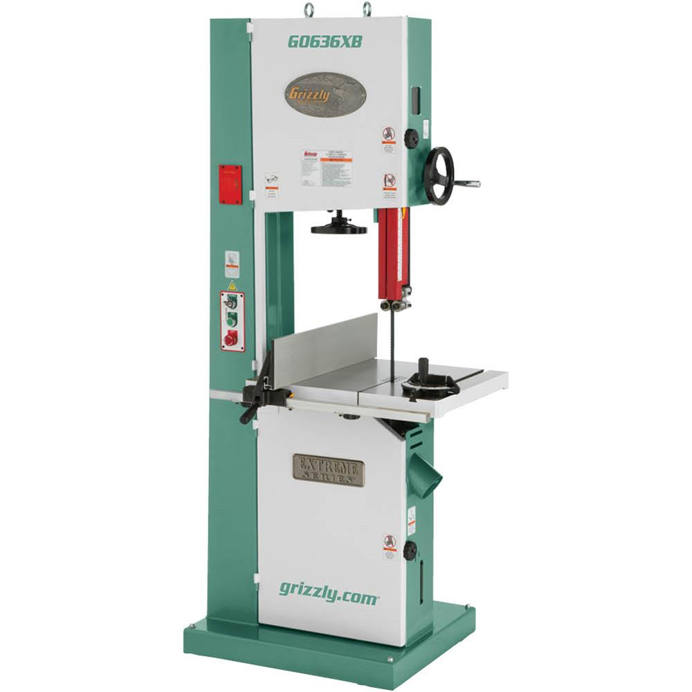 "Grizzly G0636XB 17"" 5 HP 220V Extreme-Series Bandsaw with..."