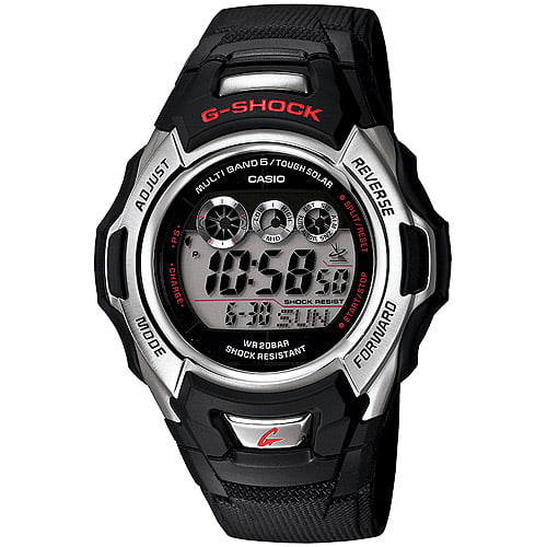 Casio Men's Solar-Atomic G-Shock Watch, Black Resin Strap by Casio