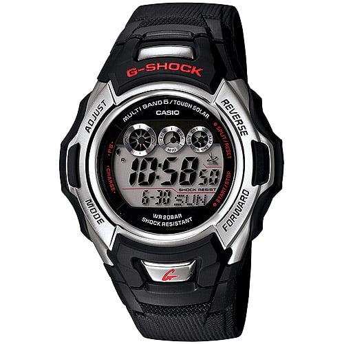 Casio Men's Solar-Atomic G-Shock Watch, Black Resin Strap