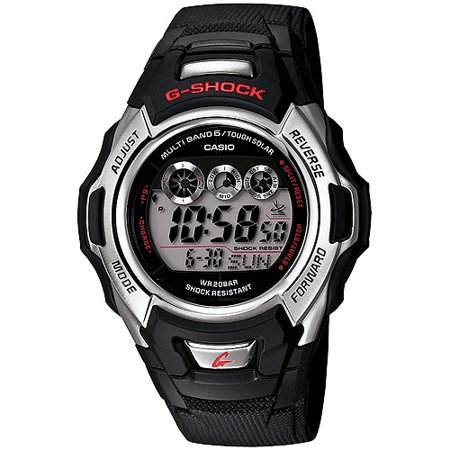 Casio Men's Solar-Atomic G-Shock Watch, Black Resin Strap