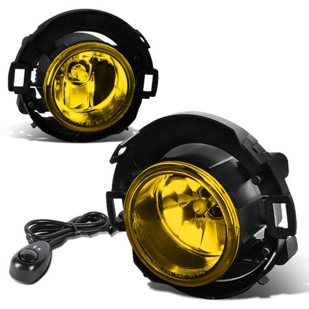 For 2005 to 2015 Nissan Xterra / Frontier Pair of Fog Lights + Wiring Kit + Switch (Amber Lens) 06 07 08 09 10 11 12 13