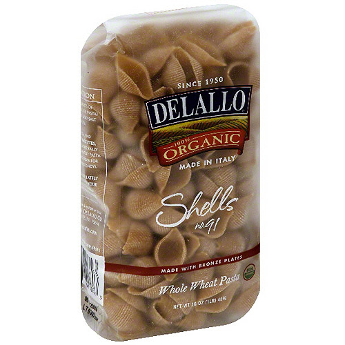 Delallo Shells Pasta, 16 oz (Pack of 16)