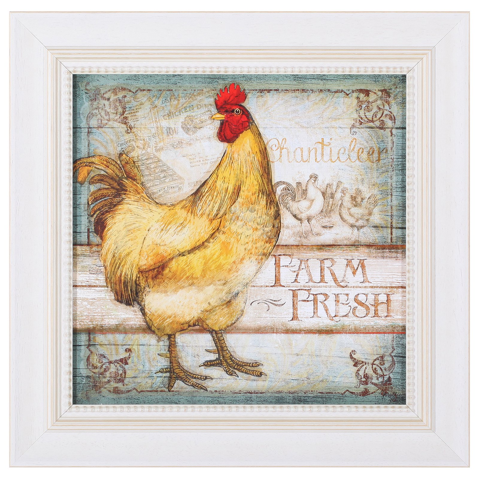 Art Effects Farm Fresh Rooster Hand Painted Wall Art