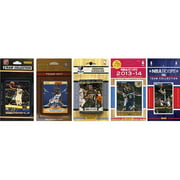 CandICollectables GRIZZLIES514TS NBA Memphis Grizzlies 5 Different Licensed Trading Card Team Sets