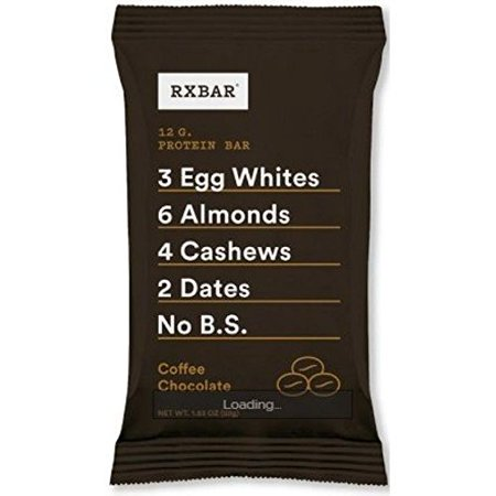 Rxbar Bar - Protéines - Chocolat Café - 1,83 oz - Caisse de 12