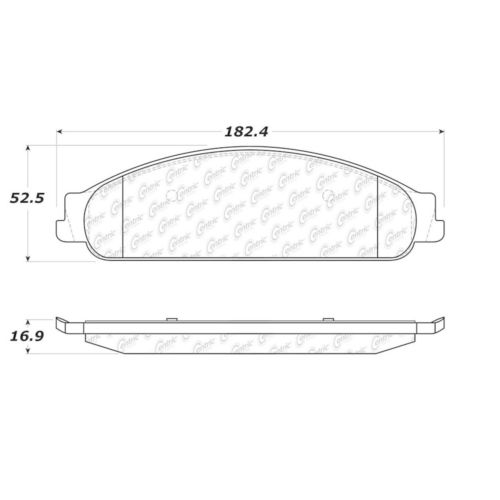 Centric Brake Pad Set, #300-10700