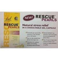 Bach Rescue Pearls Stress Relief Capsules, Original, 28