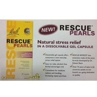 Bach Rescue Pearls Stress Relief Capsules, Original, 28 Ct