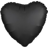 Loftus International A3-8035 18 in. Onyx Heart Satin Luxe Hx Balloon